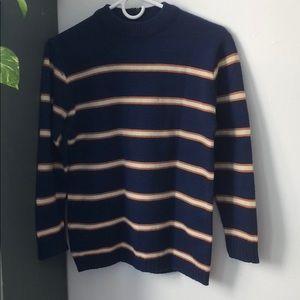 Vintage stripe crew neck sweater